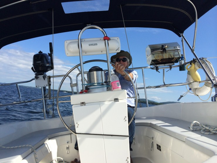 Sailing with my father, September 2014