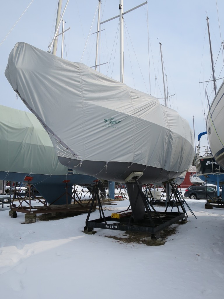 On the Hard: Errant winter storage at Willsboro Bay Marina, March 8, 2015