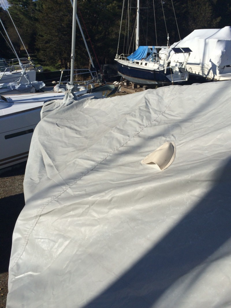 Installing Errant's Winter Storage Cover, 2014-2015