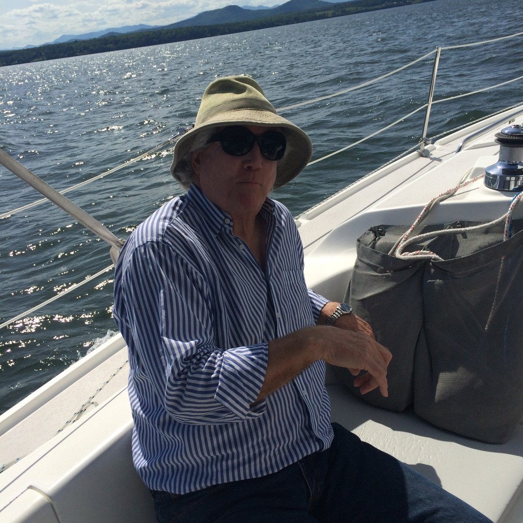 My father aboard Errant, June 2015.