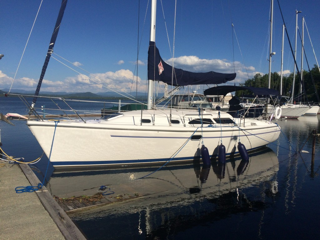 Lake Champlain water level has exceeded out Essex Shipyard dock, June 23, 2015.