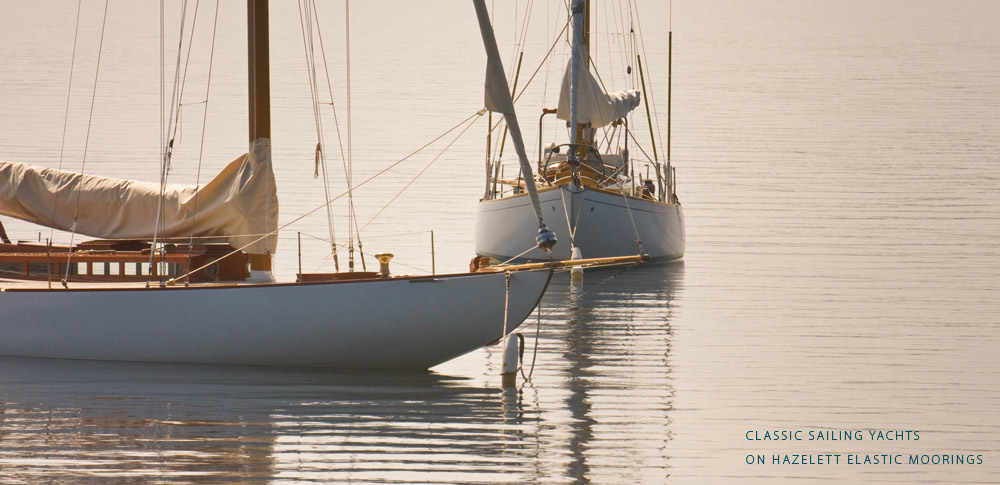 Classic Sailing Yachts on Hazelett Elastic Moorings